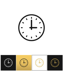 Clock sign or simple time vector icon