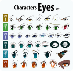Character eyes set