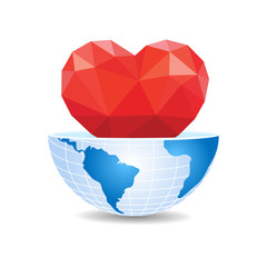 half of the world inside heart Valentine's Day