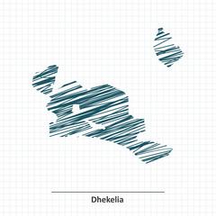 Doodle sketch of Dhekelia map