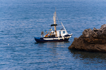 Small Fishing Boat in the Sea - Liguria Italy