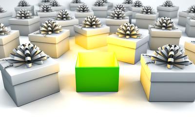 Weihnachten 3D Geschenk mit Kreativität