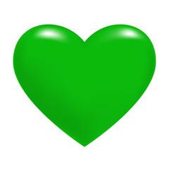 Green Heart. Vector