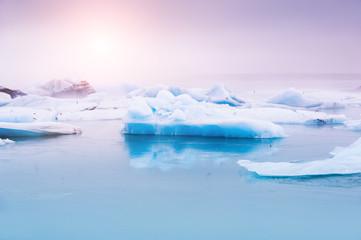 Jokulsarlon glacial lagoon, Iceland.