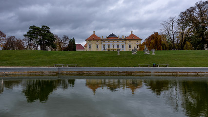 Austelitz, Slavkov Castle and lagoon front view