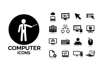 Computers vector icons set 10.