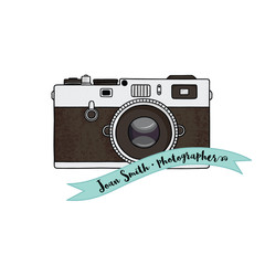 Retro camera illustration.