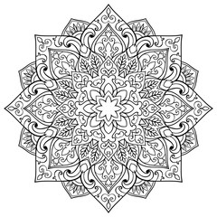 Vector abstract mandala.