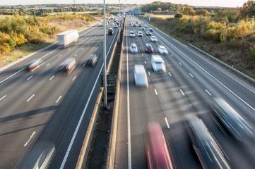 Traffic on British motorway