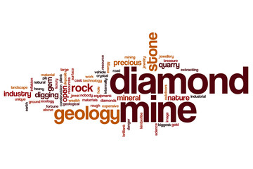 Diamond mine word cloud