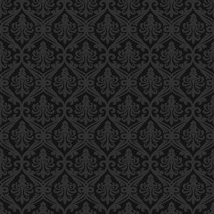 Black seamless royal background