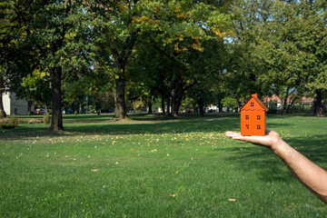 Orange house in new area