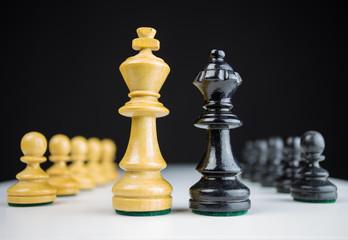 Schachfiguren als Symbol