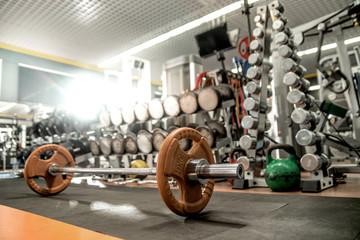 iron weight in gym , interior indoor