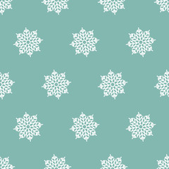 Digital Paper for Scrapbooking Blue white Snowflakes Frozen Texture seamless