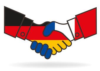 Poignée de mains - France Allemagne - Amitié
