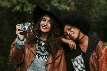 friends with a camera