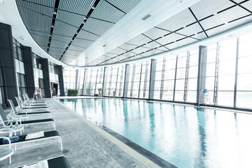 bright indoors swimming pool