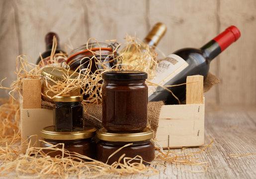 Coffret cadeau, panier gourmand de produits du terroir pour les fêtes