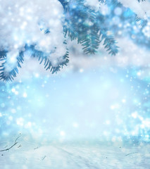 abstract winter Christmas background