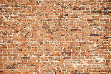 Old vintage house red brick wall as background