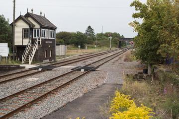 signal box Moreton-in-Marsh, England