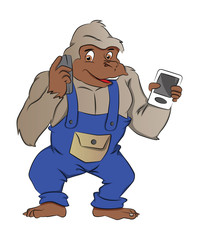Gorilla with Gadgets, illustration