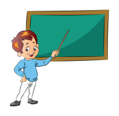 Boy Teaching, illustration