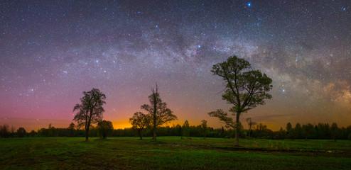 Night scene landscape