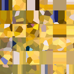 Yellow pattern. Mosaic of geometric shapes. Colored polygons. Abstract background
