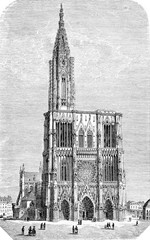 Strasbourg Cathedral or the Cathedral of Our Lady of Strasbourg