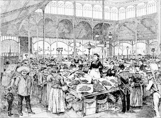 A Fish Market in Paris, France.