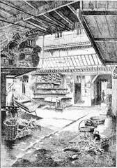 A market in L'Hotellerie, Calvados, Basse-Normandie, France.