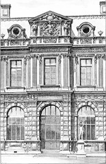 Façade of the Henry IV Gallery at the Jardin de l'Infante at th