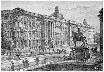 Berlin (Royal Castle), vintage engraving.