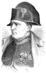Napoleon, vintage engraving.