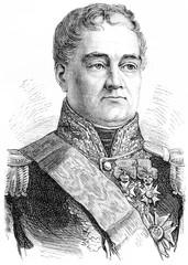 Georges Mouton, comte de Lobau, vintage engraving.