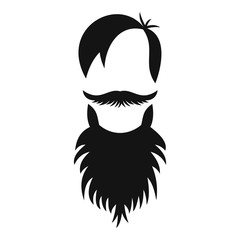 Male avatar with beard icon. Simple illustration of male avatar with beard vector icon for web