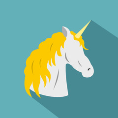 Unicorn icon. Flat illustration of unicorn vector icon for web
