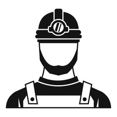 Male miner icon. Simple illustration of male miner vector icon for web
