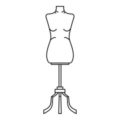 Sewing mannequin icon. Outline illustration of sewing mannequin vector icon for web