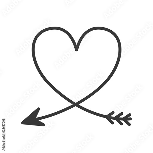 silhouette of heart with arrow vector illustration stock image and rh fotolia com heart with arrow clip art free Indian Arrow Clip Art with Heart