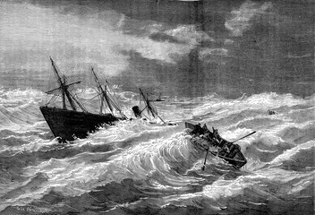 Sinking of the steamer Dieppe Valentine in the vicinity of Lizar
