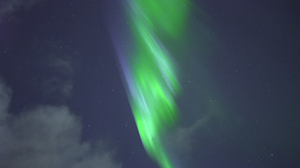 Aurora In the Sky over Northern Iceland