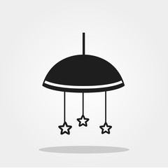 Baby toys cute icon in trendy flat style isolated on color background. Baby symbol for your design, logo, UI. Vector illustration, EPS10. Monochrome style.