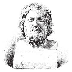 Xenophon or Xenophon of Athens, vintage engraving.