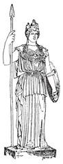 Palladium or Palladion, vintage engraving.