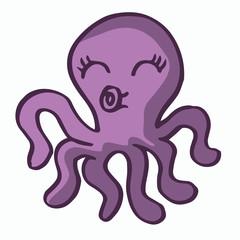 Cute octopus for kids t-shirt design