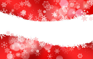 White , Light Red , Dark Red Christmas background with snowflake