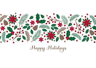 Holiday foliage illustration - Greeting card vector